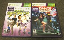 Kinect Sports & Dance Central XBOX 360 Kinect Games Lot BOTH COMPLETE