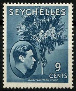 Seychelles 1938-49 SG#138a 9c Grey Blue KGVI Chalk Paper MH #D52583