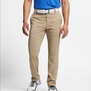 Nike Mens 6 Pocket Khaki Slim/Dri Fit Golf Pants - New - $85