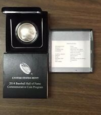 2014 P National Baseball Hall of Fame Silver Dollar Uncirculated OGP Box/COA