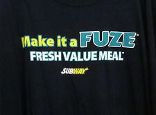 FUZE new-age beverage 3XL beat-up T shirt Fresh Brewed Iced Tea tee Subway XXXL