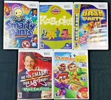 Wii Video Games 5 total - Smarty Pants, Bash Party, Play ground & 2 additional