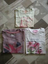 3 tee shirts fille manches courtes - 8 ans