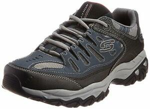 Skechers Mens Memory Fit 50125 Low Top Lace Up Running Sneaker, Navy, Size 11.0
