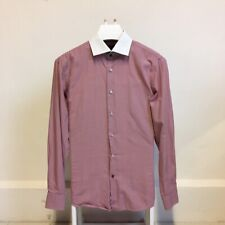 Tommy Hilfiger Long Sleeve Smart Shirt - Tailored Fit - Red & White Check
