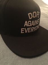 DOPE AGAINST EVERYONE BLK SNAPBACK HAT !!! NEW !!!