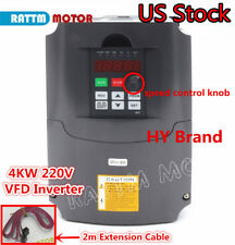 【US】CNC 4KW 220V Inverter 5HP Variable Frequency VFD Drive Spindle Speed Control