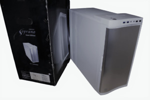 Thermaltake Soprano Mid Tower Gaming Computer Case Snow Edition VO9000 Series