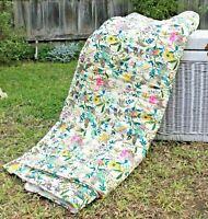 Handmade Cotton Kantha Quilt Doona Duvet Covers Set Baby Single Queen King Bed