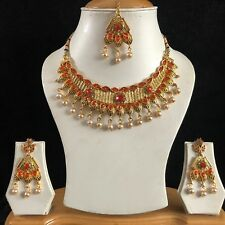 Orange Crystal Necklace & Earring Set - Costume Jewellery