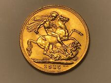 More details for 1915 george v gold full sovereign london mint. nice example
