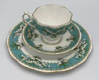 Vintage  Queen Anne English Bone China Cup & Saucer Set Marilyn Snowdrop Flower