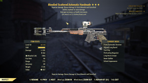 Fallout 76 PC ⭐⭐⭐ Bloodied Explosive Handmade rifle/Pistol