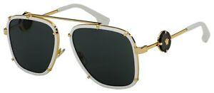 Versace Sunglasses VE 2233 147187 60 White   Dark Grey Lens