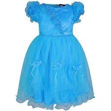 Vêtements bleus habillés en polyester pour fille de 2 à 16 ans