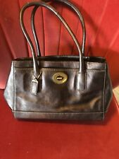 coach purse copper shimmer leather sachel bag with zipper and buckle