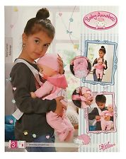 Zapf Creation Baby Annabell Doll Carrier Childrens Toy Playset