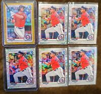 2020 Bowman Alex Kirilloff Lot (6) Gold Shimmer Refractor #/50, Speckle #/299