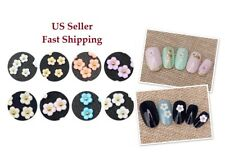 10/20pcs New 3D Nail Art Resin Cherry Blossom Colorful Flower DIY Charms Decor