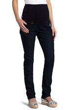 Ripe Stretch Denim Maternity Jeans S Mottled Black Slim Straight