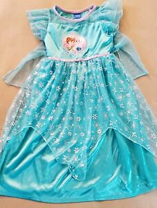 Disney Frozen Princess Elsa Anna Dress Up Costume Nightgown Girls 6