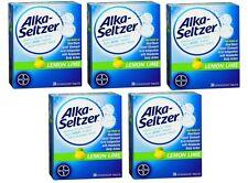 5 Pack - Alka-Seltzer Effervescent Tablets Lemon Lime Flavored 36 Tablets Each