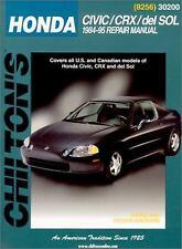 Honda Civic, CRX, and Del Sol, 1984-1995 by Chilton Automotive Editorial Staff