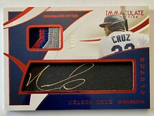 NELSON CRUZ 2020 Panini Immaculate Clutch 5-Color GU Patch Auto 14/22 Twins