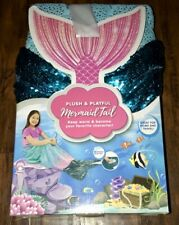 """Jay Franco & Sons Plush & Playful Mermaid Tail Reversible Sequence 22.5""""x55"""""""