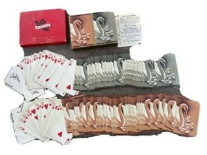 US Hamilton Playing Cards Double Deck Swans in good condition