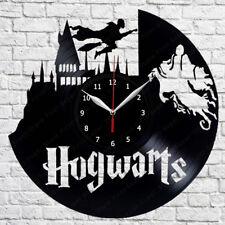 Hogwards Vinyl Record Wall Clock Art Original Gift Handmade 12'' 122