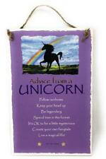 "Advice from a Unicorn Inspirational 5.5""x8.5"" Hanging Wood Plaque Sign for Wall"