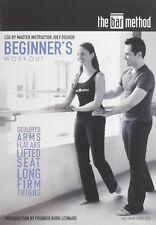 The Bar Method Beginners Workout DVD Burr Leonard Fitness Tone Barre Sculpt