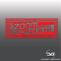Zoom Zoom Jap Performance Rising Sun Funny JDM Drift Car Vinyl Decal Sticker