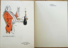 Champagne Henri Abele, Reims 1930s French Advertising Menu, Artist-Signed