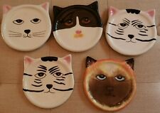 New listing Ceramic Cat Face Coasters By Bandwagon Inc. 2001