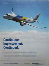 11/2013 PUB AVION EMBRAER E175 REGIONAL AIRLINER COMMERCIAL AVIATION ORIGINAL AD