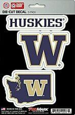 Washington Huskies Team ProMark Die-Cut Decal Stickers 3 Pack