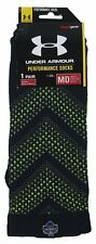 Under Armour - NWT Pair of Men's Navy/Green Performance Crew Socks - Size: M