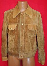 Vintage 70s CAMPUS LEATHERS LTD Suede Button Up JACKET L Vtg COAT