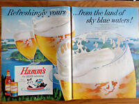1957 Hamm's Beer Ad From the Land of Sky Blue Waters the Hamm's Bear Jantzen Ad