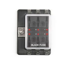 SCI R3-76 1 Power In 6 Way Blade Fuse Box LEDFuse Holder Kit Car/Boat/Marine AU