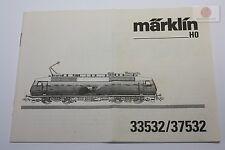 H0 Märklin 33532 37532 Bedienungsanleitung operation manual aus dem Jahr 1997