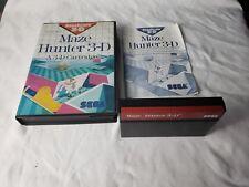 Maze Hunter 3-D Sega Master System Complete in CASE