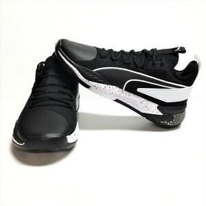 Puma Basketball Mens 12 Uproar Hybrid Court Core Shoes Black White Trainers NEW