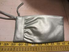 Warehouse Ladies Silver Coloured Faux Leather Clutch Purse