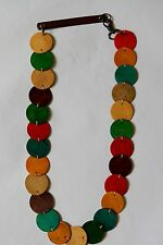 Marni Colorful Wood Discs Necklace or Belt
