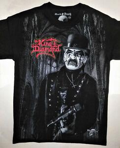 KING DIAMOND Medium T-Shirt RARE Embroidered Logo Mercyful Fate Black Metal Rock