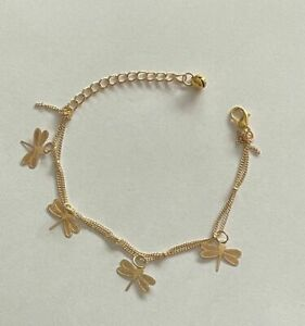 Libelle Armband  16,5 - 21,5 cm goldfarbig