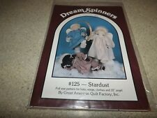 "Dream Spinners Christmas Angel Doll Quilt Sewing Craft Pattern 24"" UNCUT NOS VTG"